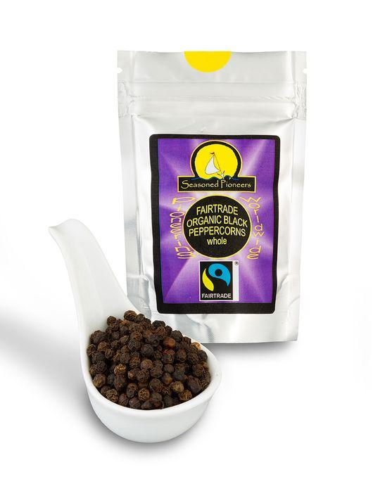 Fairtrade whole black peppercorns