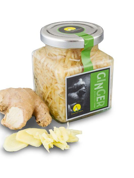 Fresh Ginger in a Jar