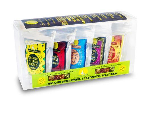 Organic Worldwide Spices Gift Box