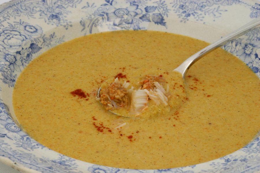 Crab and vanilla soup