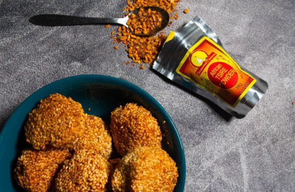 Tsire Chicken and Sesame Balls
